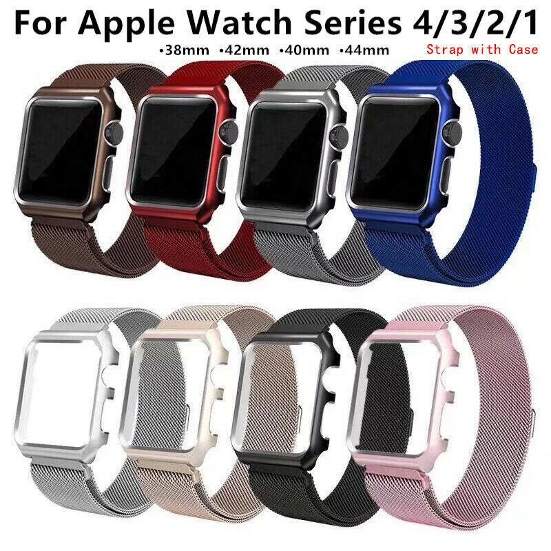 สายนาฬิกาข้อมือสแตนเลสสําหรับ Applewatch Applewatch 3 / 4 / 5 Generation Milanese