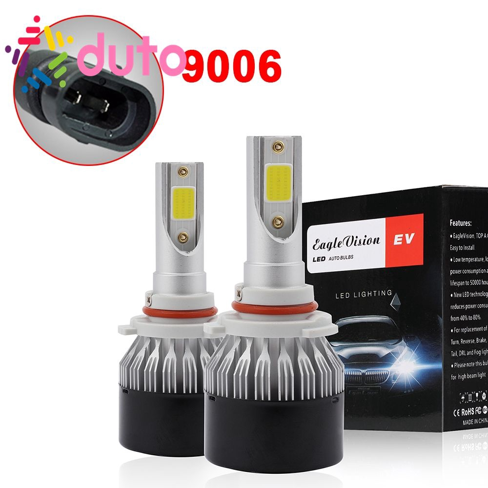 2x9006 HB4 LED HEADLIGHT CREE 1400W 210000LM COB FOG LIGHT BULBS HIGH BEAM 6000K