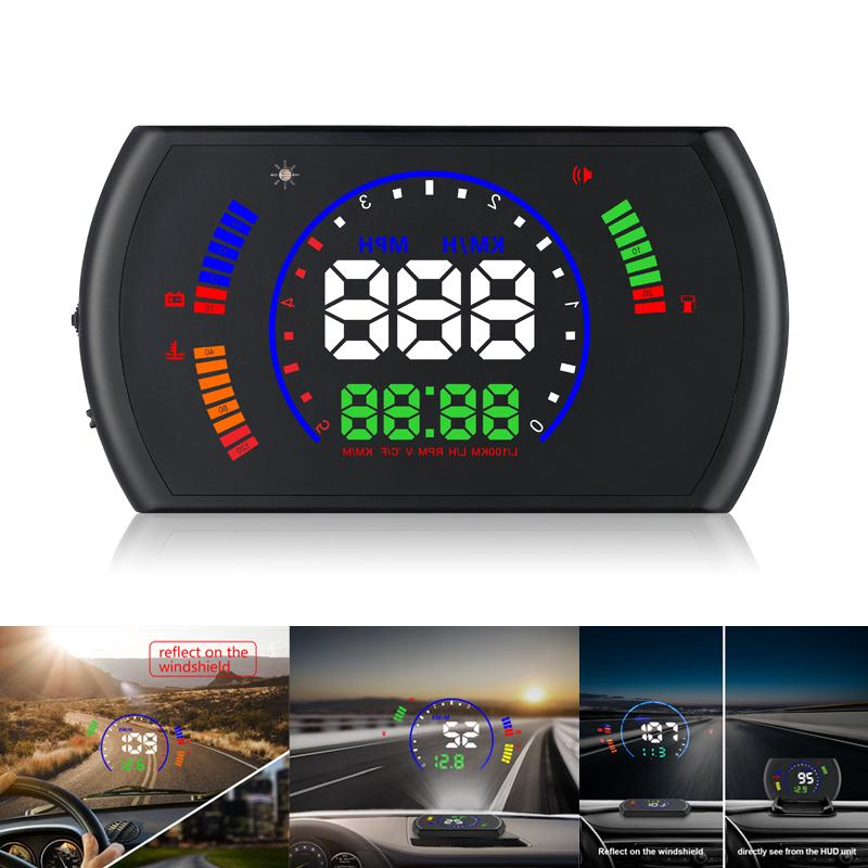 Projector digital head up display windshield speedometer
