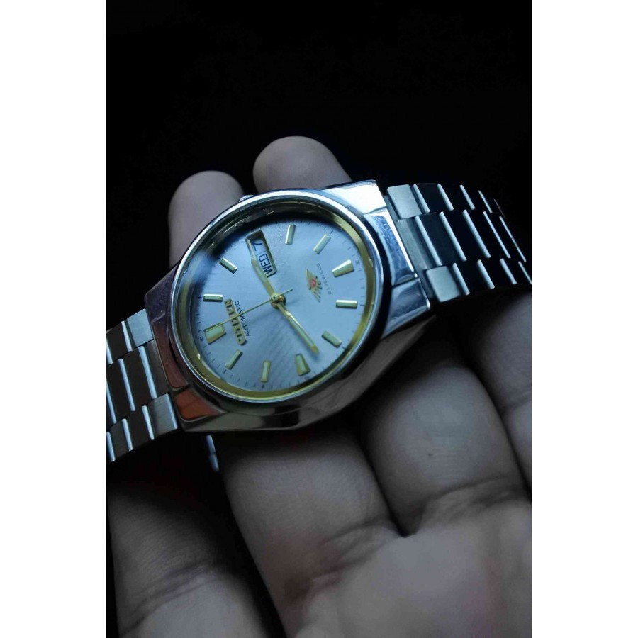 CITIZEN AUTOMATIC 71-1837 ผู้ชาย JAPAN STEEL 21J VINTAGE นาฬิกา ของแท้ มือสอง 37mm