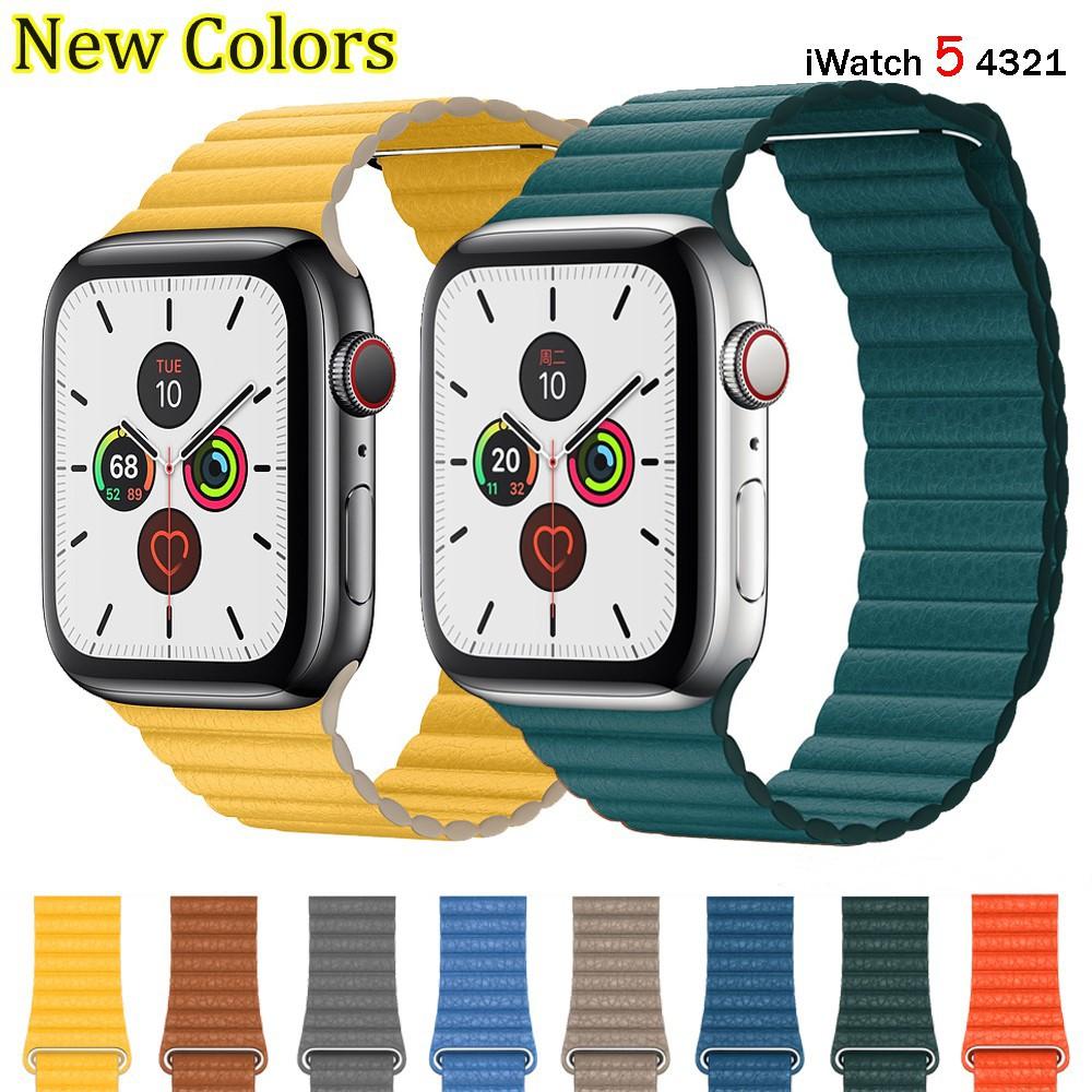 สาย applewatch สายนาฬิกา applewatch สายเปลี่ยนสำหรับ Apple Watch สายหนัง Series 6 SE 5 4 3 2 1 ขนาด 44มม. 42 มม. 40 มม.