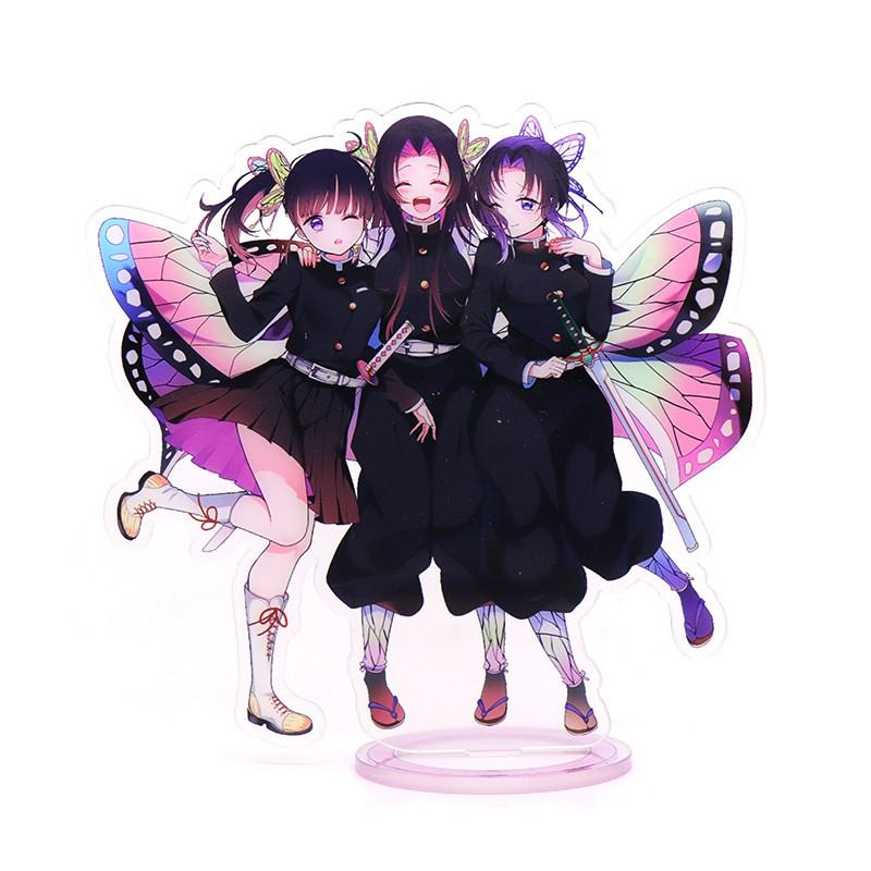 อะนิเมะ รูปอะนิเมะ Demo Slayer Kimetsu no Yaiba Shinobu Mitsuri Kanae Kanao Tanjirou Nezuko Standing Figure  ใบมีดของผีท