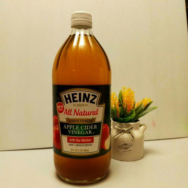 Heinz Apple Cider Vinegar (with the mother) 946ml.น้ำส้มสายชูหมักจากแอปเปิ้ล ชนิดไม่ผ่านการกรอง ตรา ไฮนซ์