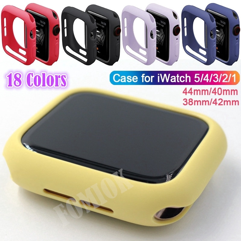 (Cod) [Ready Stock] Candy Colors Soft TPU Protector Case for Apple Watch Series 5 4 3 2 1 38mm 42mm 40mm 44mm Colorful Silicone Cover Casing (18 Colors)