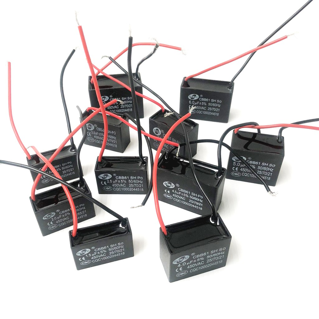 Senju คาปาซิเตอร์พัดลม Cพัดลม แคป ตัวประจุไฟฟ้า 450V CBB61 cap