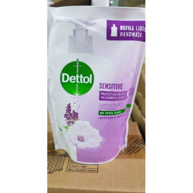 สบู่ดอกไม้เจลล้างมือเจลล้างมือพริก✟สบู่ล้างมือ dettol แบบเติม ขนาด 225 ml. สูตร sensitive