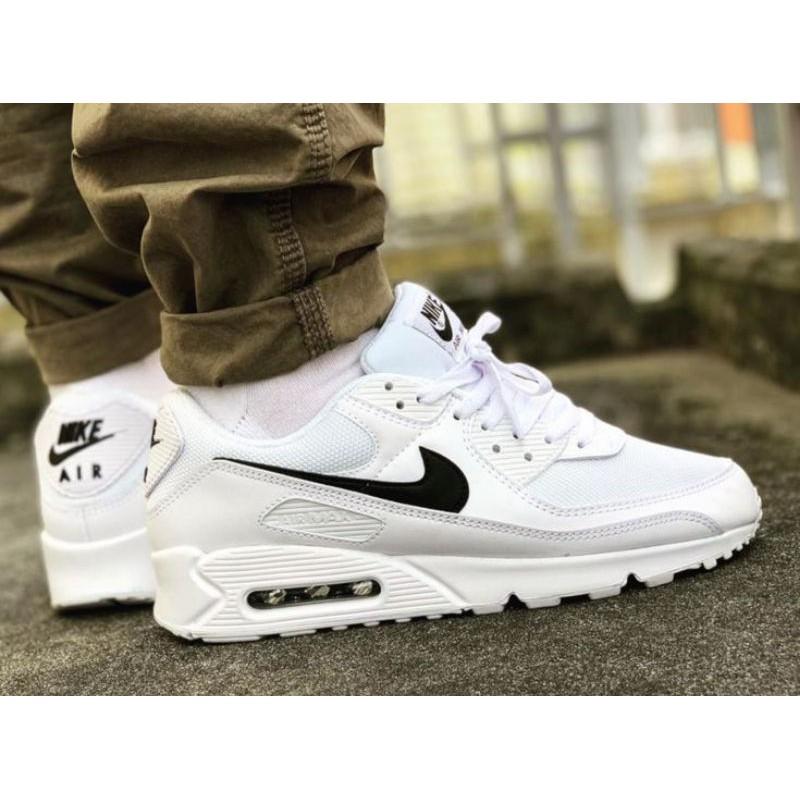 รองเท้าผ้าใบ Nike Airmax 90 สีขาวดํา