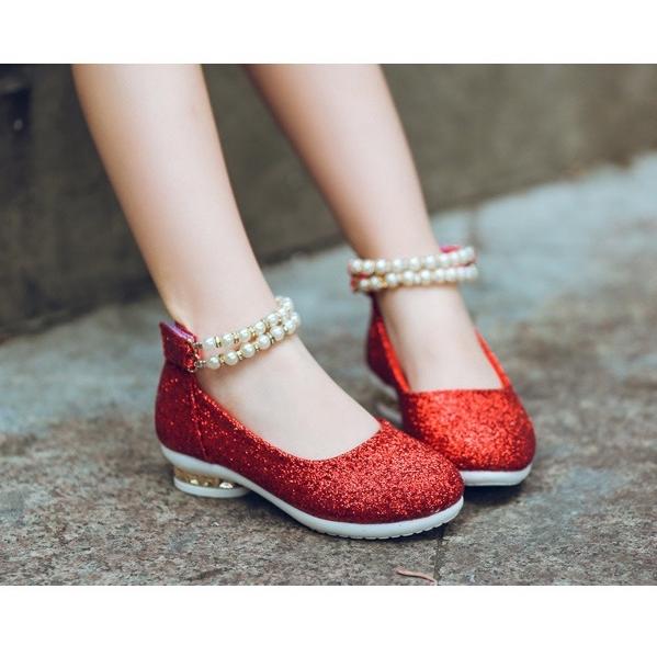shoe14201 รองเท้าคัชชูเด็กสีแดง รองเท้าคัชชูเด็กเล็ก รองเท้าคัชชูเด็กโต (ยาว=ความยาวพื้นในรองเท้า) รองเท้าออกงานเด็ก