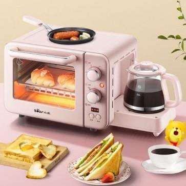 เครื่องไมโครเวฟ เครื่องทำกาแฟ ทำเมนูอาหารเช้า 3IN1*สินค้าพร้อมส่ง*