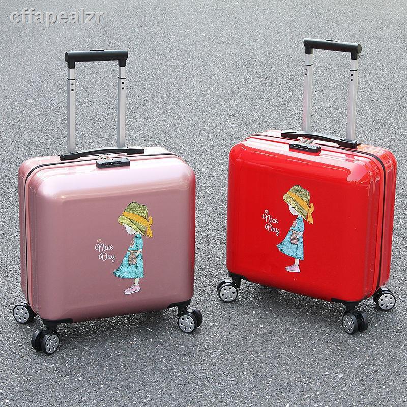 รถเข็นการ์ตูนมินิ 18 นิ้ว 16 กระเป๋าเดินทางรหัสผ่านกระเป๋าเดินทางนักเรียนกระเป๋าเดินทางใบเล็กน่ารักสาวเกาหลีรุ่น
