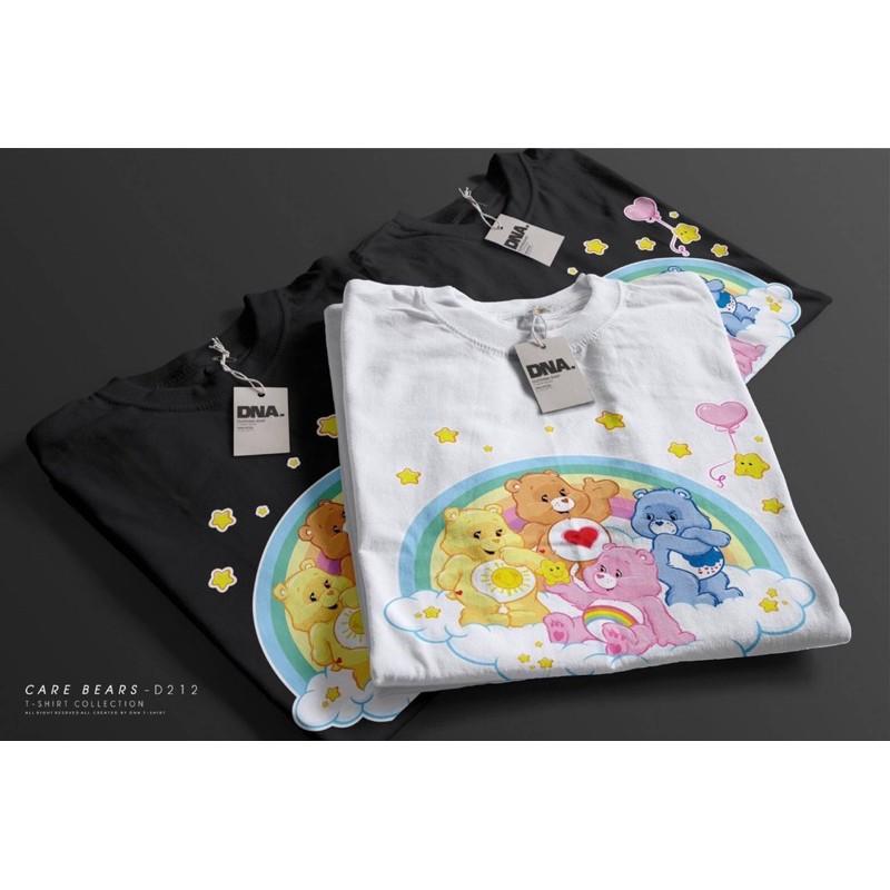 เสื้อยืดคอกลมดีเทลพิมพ์ลาย Care Bears