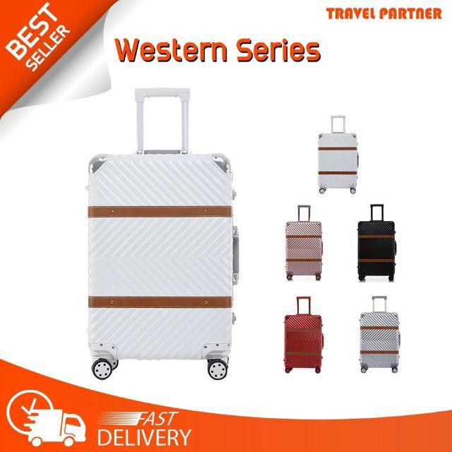 ใหม่ กระเป๋าเดินทาง กระเป๋าเดินทางล้อลากรุ่น Western ขนาด 20 24 26 29นิ้ว Body PC+ABS โครงอลู
