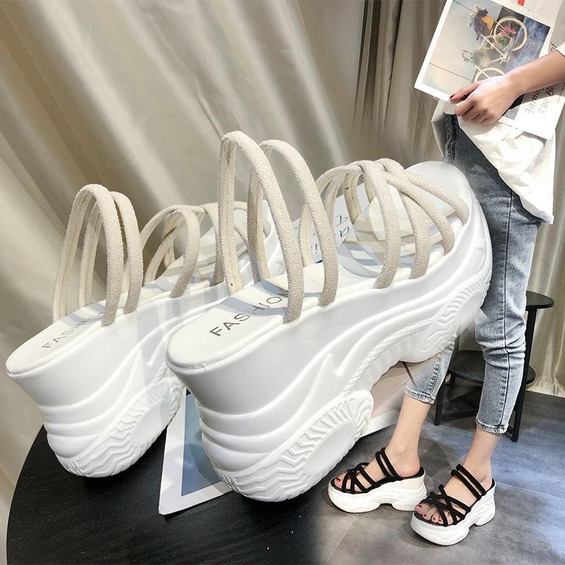 💚มีในสต๊อก💛รองเท้าคัชชูผู้หญิง รองเท้าคัชชูแฟชั่น รองเท้าคัชชูเปิดส้น รองเท้าแตะแบบแพลตฟอร์ม