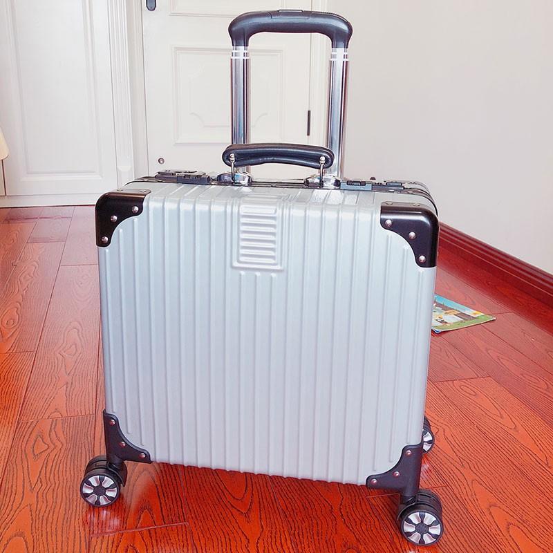 กระเป๋าเดินทางใบเล็กมือสองกระเป๋าเดินทางใบเล็กน่ารักกระเป๋าเดินทางใบเล็ก 14 นิ้ว✓▥✈ธุรกิจกระเป๋าเดินทางห้องโดยสารขนาด 18
