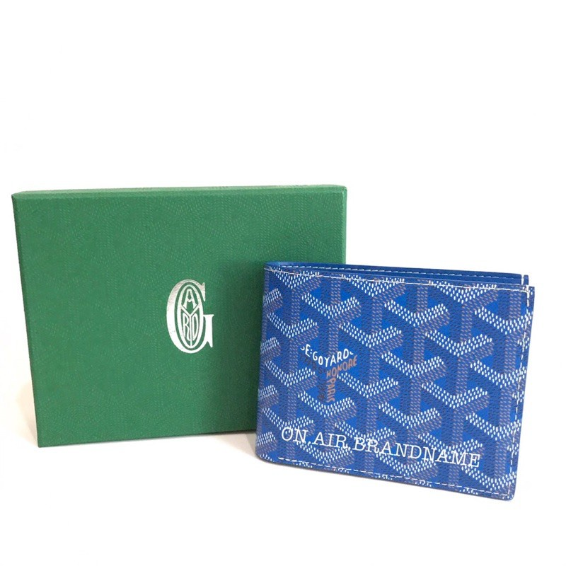goyard wallet สีน้ำเงิน หายากมาก