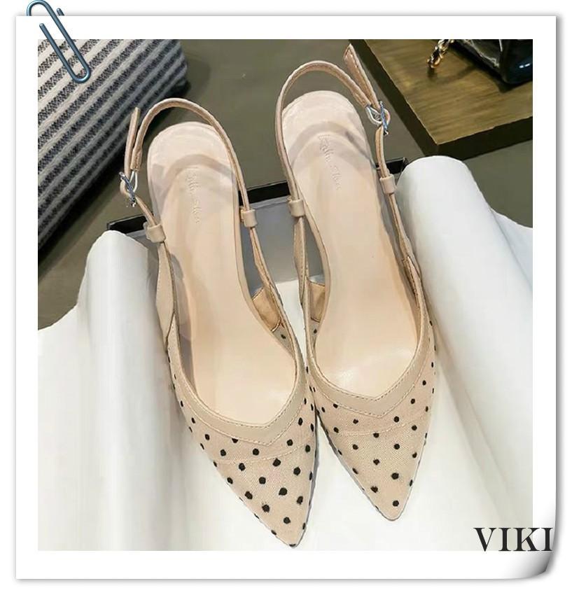 💕VIKI💕 รองเท้าส้นสูง รองเท้ารัดส้น รองเท้าคัทชูผู้หญิง รองเท้าเกาหลีผู้หญิง รองเท้าคัชชูแฟชั่น รองเท้าส้นเข็ม รองเท้าส้นสูงแฟชั่น รองเท้าคัชชูแฟชั่น รองเท้าส้นตึกและส้นเตารีด แบบเสริมส้น แบบสลิป-ออน รองเท้ารัดส้น
