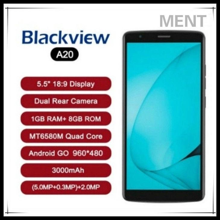 เป็นต้นฉบับ Blackview A20  ไปที่ 18: 9 5.5 นิ้วกล้องสอง 1GB RAM 8GB ROM MT6580M 5MP 3G สมาร์ทโฟน