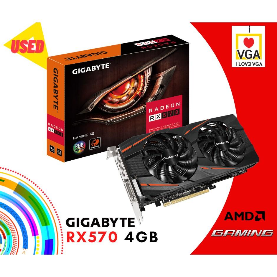 การ์ดจอ Gigabyte Gaming RX570 4GB 2F (ประกันร้าน 30 วัน)