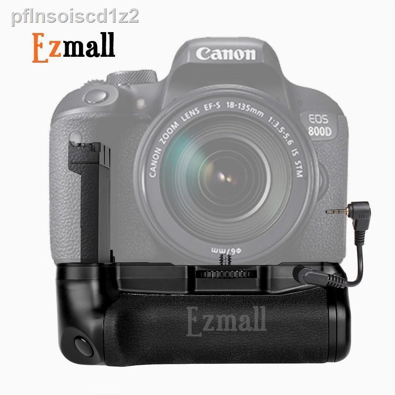 🔥รุ่นขายดี🔥₪♕แบ็ตเตอรี่กริ๊ป(Battery Grip) สำหรับกล้อง DSLR Canon 77D, 800D เทียบเท่า BG-1X