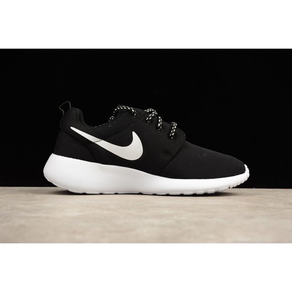 77d0be818b6a3 H882UY Nike Roshe Run One Black And White Oreo Fine Mesh Running Shoes Men  844994-002