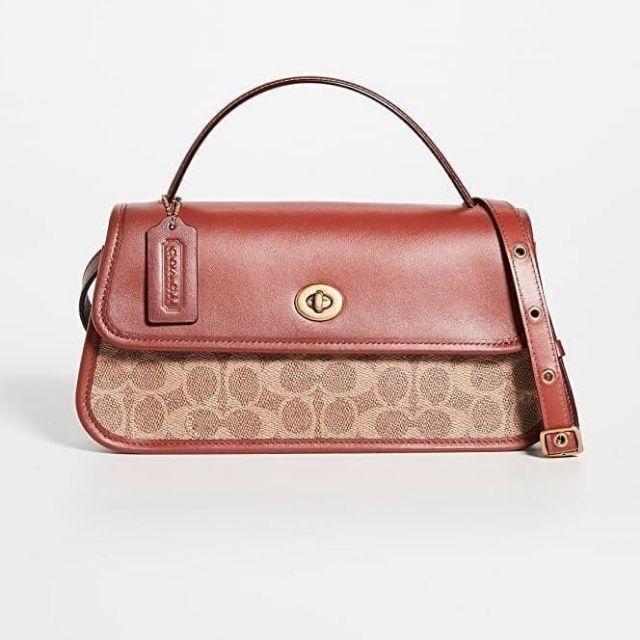กระเป๋าสะพายข้าง Coach  Auth Coach 1941 Turnlock Clutch Crossbody Bag DETAILS