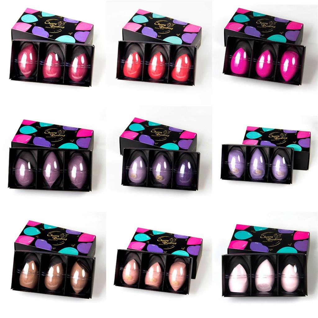 Cherry Darling Makeup Sponge Blenders 3-Packs Ultra-Soft Beauty Sponge Blenders with gift box