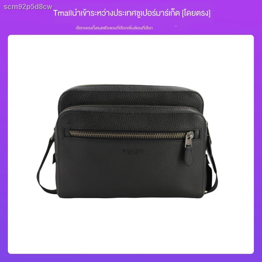㍿☁ஐ[ขายตรง] กระเป๋าสะพายข้างหนังผู้ชาย COACH 91484 กระเป๋าผู้ชายกระเป๋ากล้อง bag