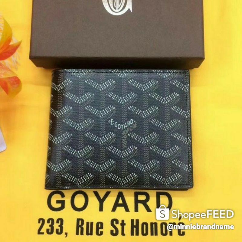 🎀Goyard Goyardine Victoire Small Bifold Wallet Black🎀 (สินค้างานแท้ 100%)