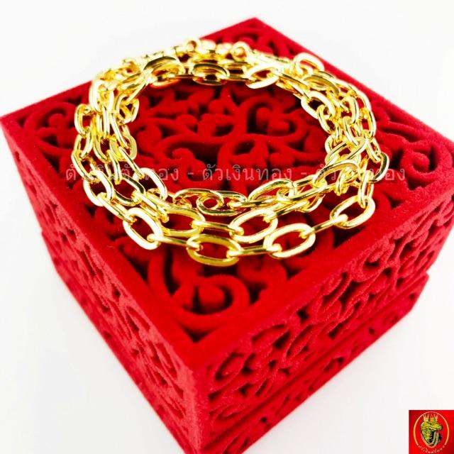 สร้อยคอ  หุ้มทองแท้100% (ลายโซ่ใหญ่)  ทองปลอม ราคาโรงงาน