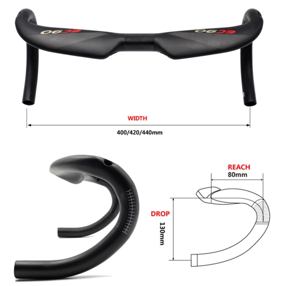 EC90 3K Carbon Fiber 400//420//440mm Bicycle Drop Bar Road Bike Handlebar Cycling