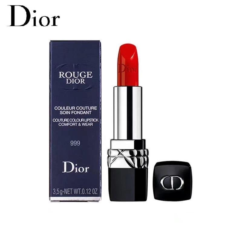 lipstick DIOR 999 matte moisturizing metal classic red/ดิออร์ลิปสติก DIOR 999 แมตต์เมทัลมอยส์คลาสสิกสีแดง