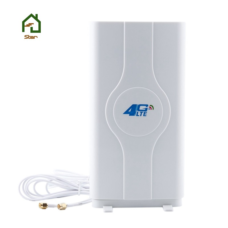 700~2600mhz 88dbi 3g 4g Lte Mobile Antenna Male Connector Booster Mimo Panel Antenna+2 Meters(2x SMA
