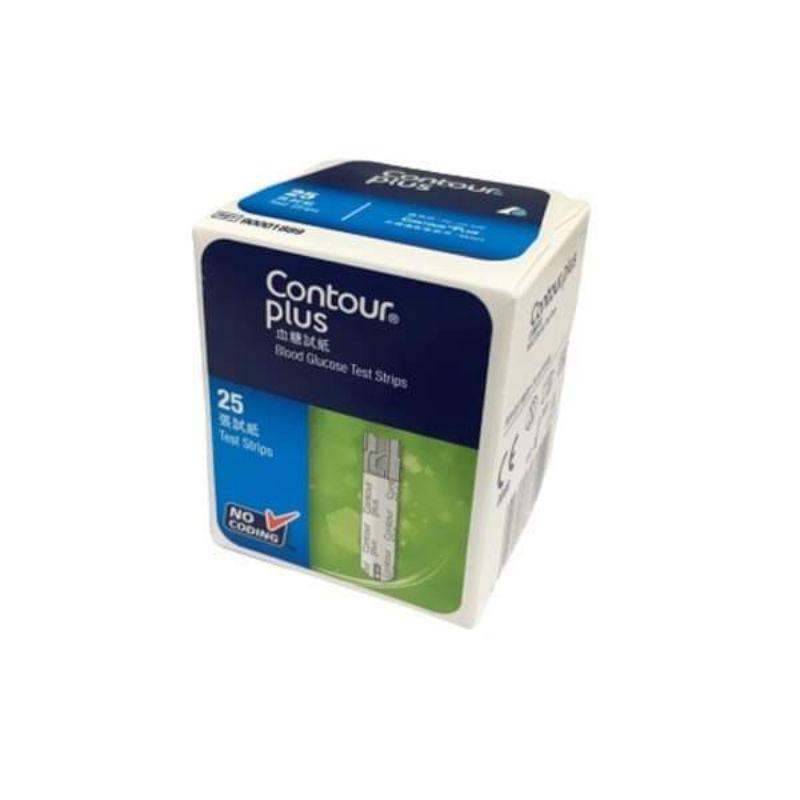 แผ่นตรวจน้ำตาล Contour Plus 25 แผ่น/กล่อง Exp 10/21