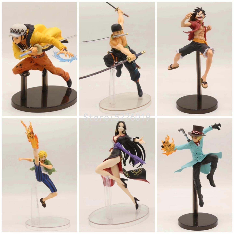 18cm Anime One Piece Movie Figure Toy One Piece Party Luffy Figure Boa Hancock Sexy Figure Zoro Sanji Sabo Law Action