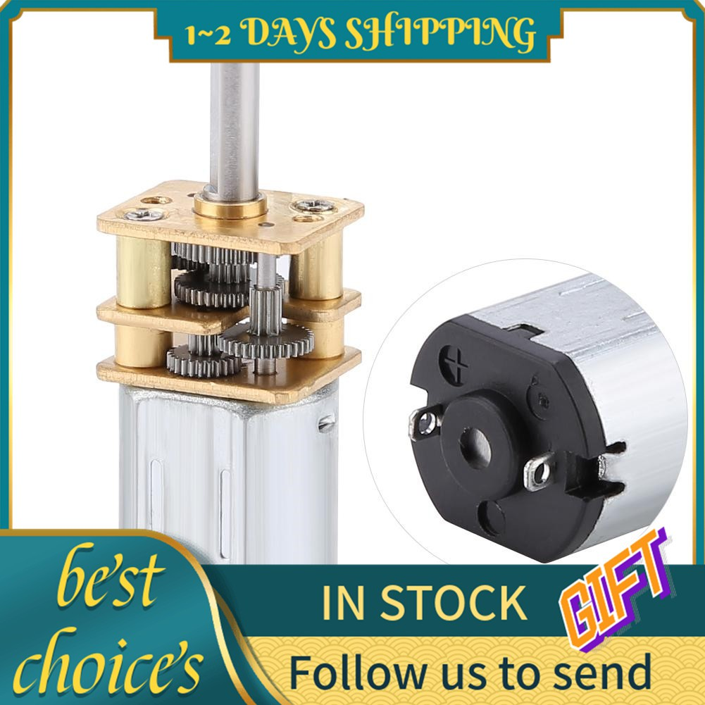 Gear DC Motor New N20 DC3V 6V 12V 50-2000RPM Speed Reduction Motor with Metal Gearbox Gear Motor