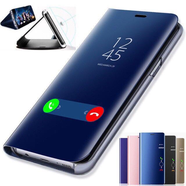 เคส samsung galaxy C7 C9 A9 PRO S6 Edge เคสโทรศัพท์ฝาพับหนังแข็ง Mirror shell Bracket holder Leather Case Cover เคสแข็ง