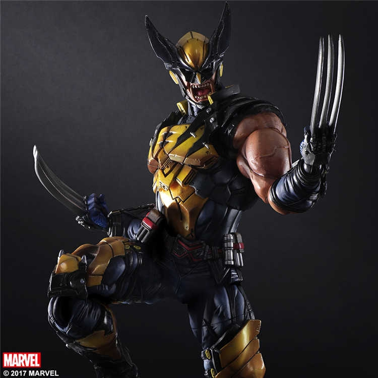 "Play Arts Kai PA Wolverine Action Figure Model New Marvel PVC 10/"" Statue X-MEN"