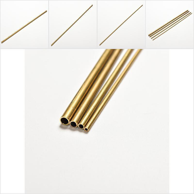 1X Brass Tube Pipe Tubing Round Inner 2mm ~ 5mm Long 300mm Wall 0.5mm FO