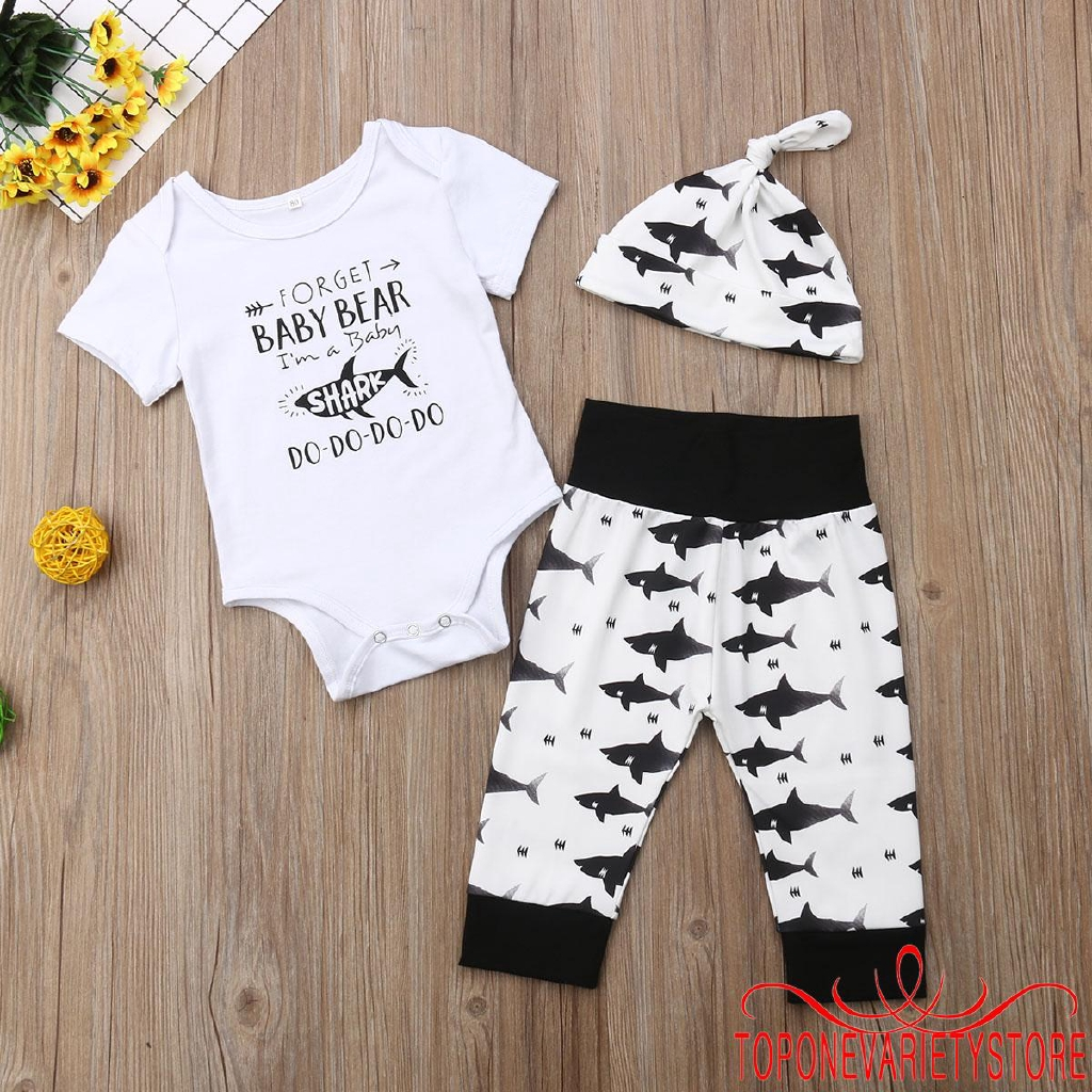Pants Clothes 3Pcs Toddler Baby Girl Kids Long Sleeve Cute Outfits Romper Top