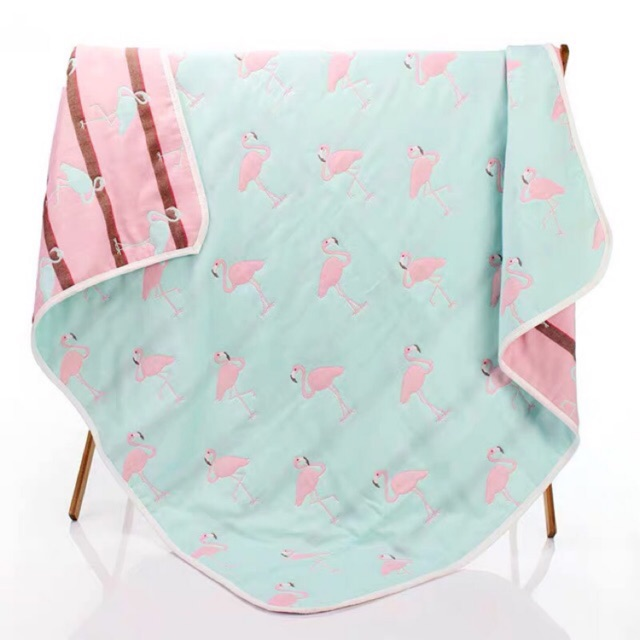 ผ้าห่มสาลู 6ชั้น ขนาด3.5ฟุต (120*150ซม)