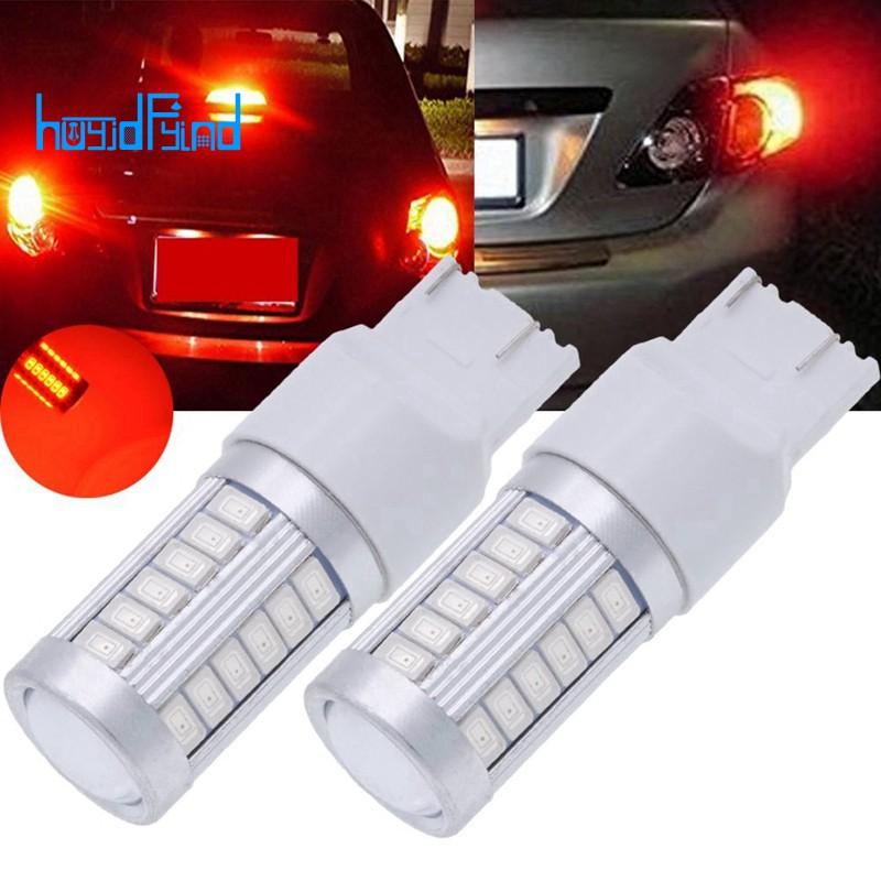 2pcs 12V T20 7443 18 LED 5630 SMD Brake Stop Tail Light Bulb Red Lamp Error Free