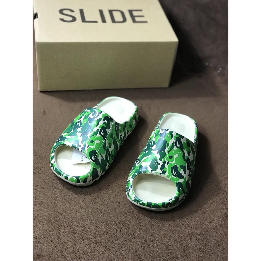 จุดเดิม ADIDAS YEEZY SLIDE ผู้ชายและผู้หญิงรองเท้าแตะรองเท้ารองเท้าแตะชายหาดรองเท้ารองเท้าลำลอง