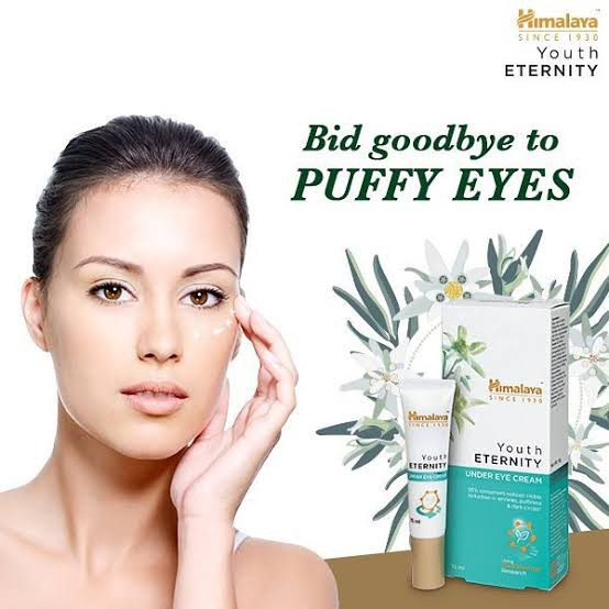 Himalaya Youth Eternity Under Eye Cream Reduces Wrinkles, Puffiness and Dark Circles 15ml