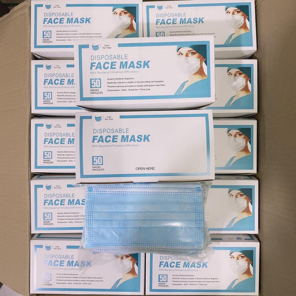 สินค้าพร้อมส่งค่ะมีแผ่นกรองเชื้อโรค หน้ากากอนามัย 3ชั้น 1กล่อง50ชิ้น Mask หน้ากาก แมส ผ้าปิดจมูก Face Mask By I'm Bag