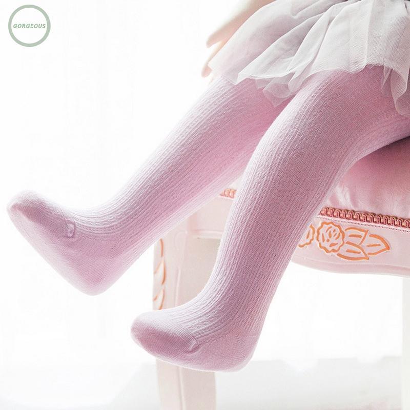 Newborn Baby Kid Girls Warm Cotton Socks White Tights Leg Stockings For Age 0-4