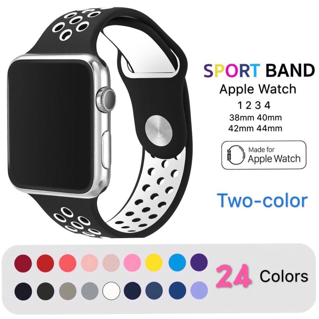 สายนาฬิกา Apple Watch 3 4 5 2 1 series ซิลิโคน Nike iWatch ขนาด 38 40 42 44 มม.