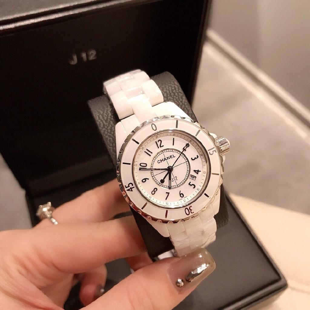 Chanel J12 นาฬิกาผู้หญิง นาฬิกาควอตซ์ สายสแตนเลส แบรนด์เนน นาฬิกา size:33mm