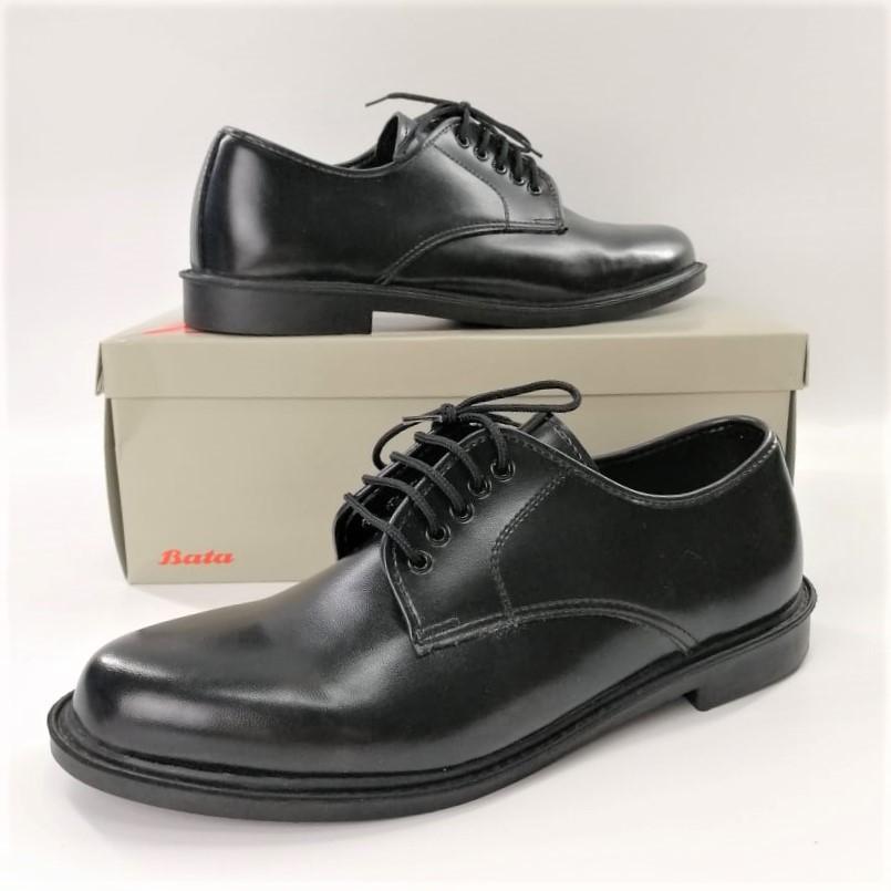 Bata รองเท้าคชชูหนัง แบบผูกเชือก สีดำ ยี่ห้อบาจาของแท้ เบอร์ 2-12 (35-47) รุ่น 821-6781 821