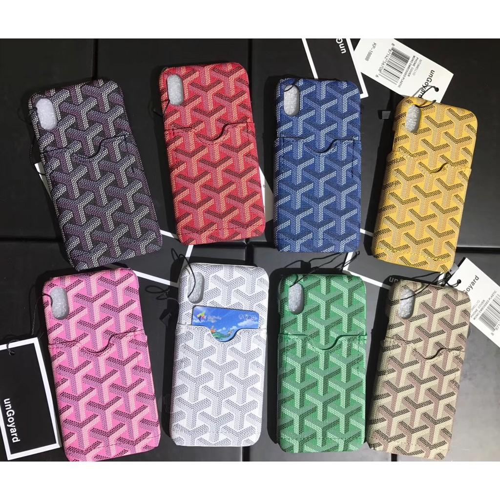 เคสแฟชั่นฝรั่งเศสสําหรับ Iphone 11 Pro Xs Max Xr การ์ดท่องเที่ยว Goyard I 7/i 8 Case