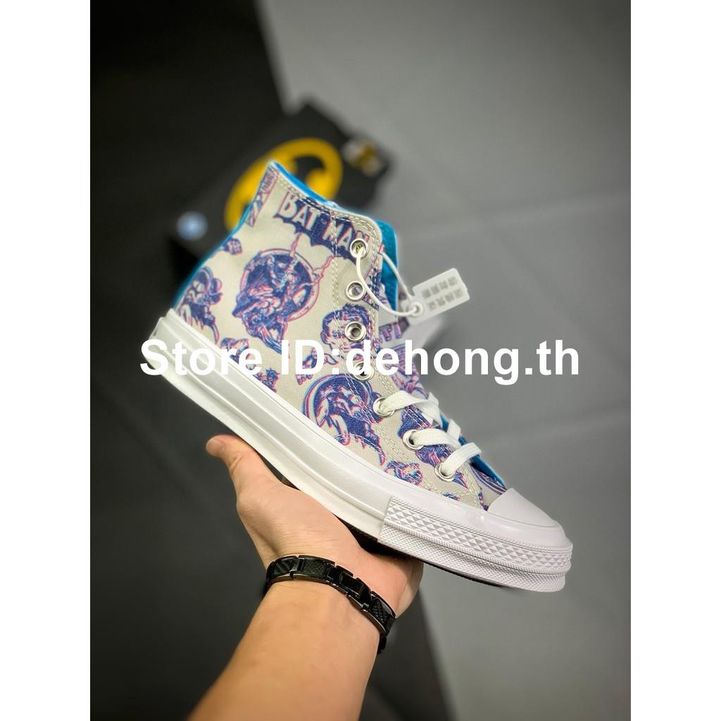 【dehong.th】Batman x Chinatown Market x CONVERSEรองเท้าลำลอง
